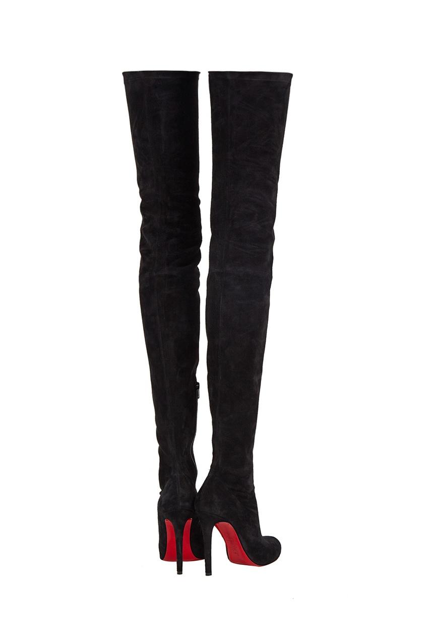 Черные замшевые ботфорты Louise X 100