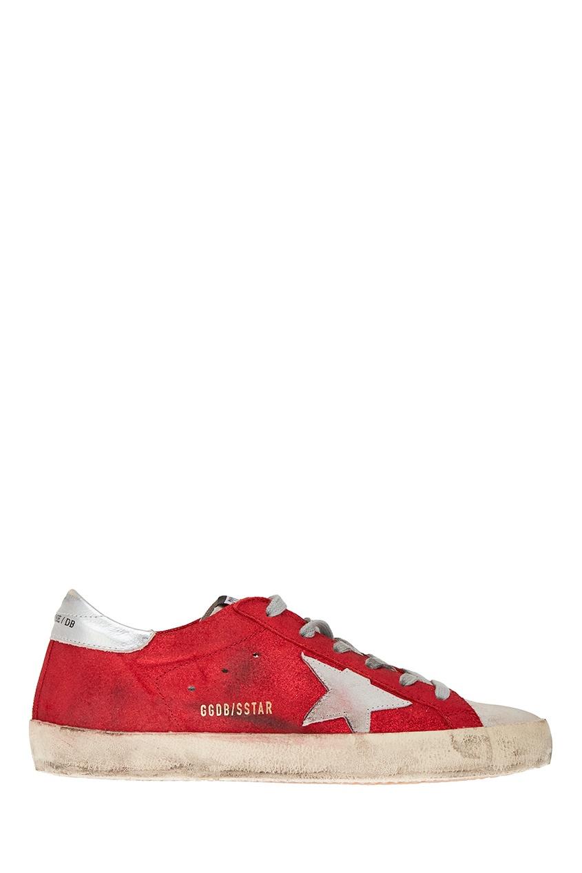 Golden Goose Deluxe Brand Красные кожаные кеды Superstar 2016 high quality italy brand golden goose superstar casual shoes ggdb sstar white men women genuine leather 100