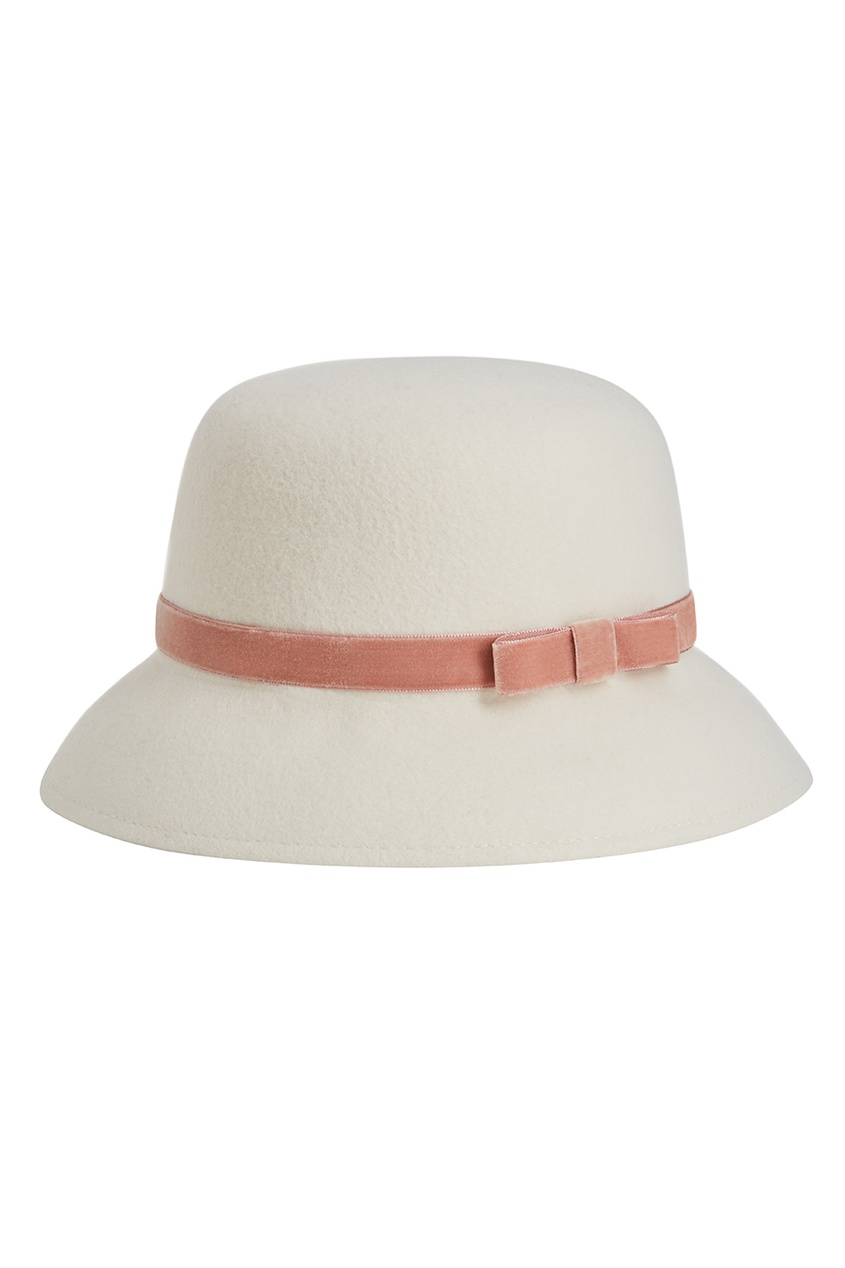 Белая фетровая шляпа Julie