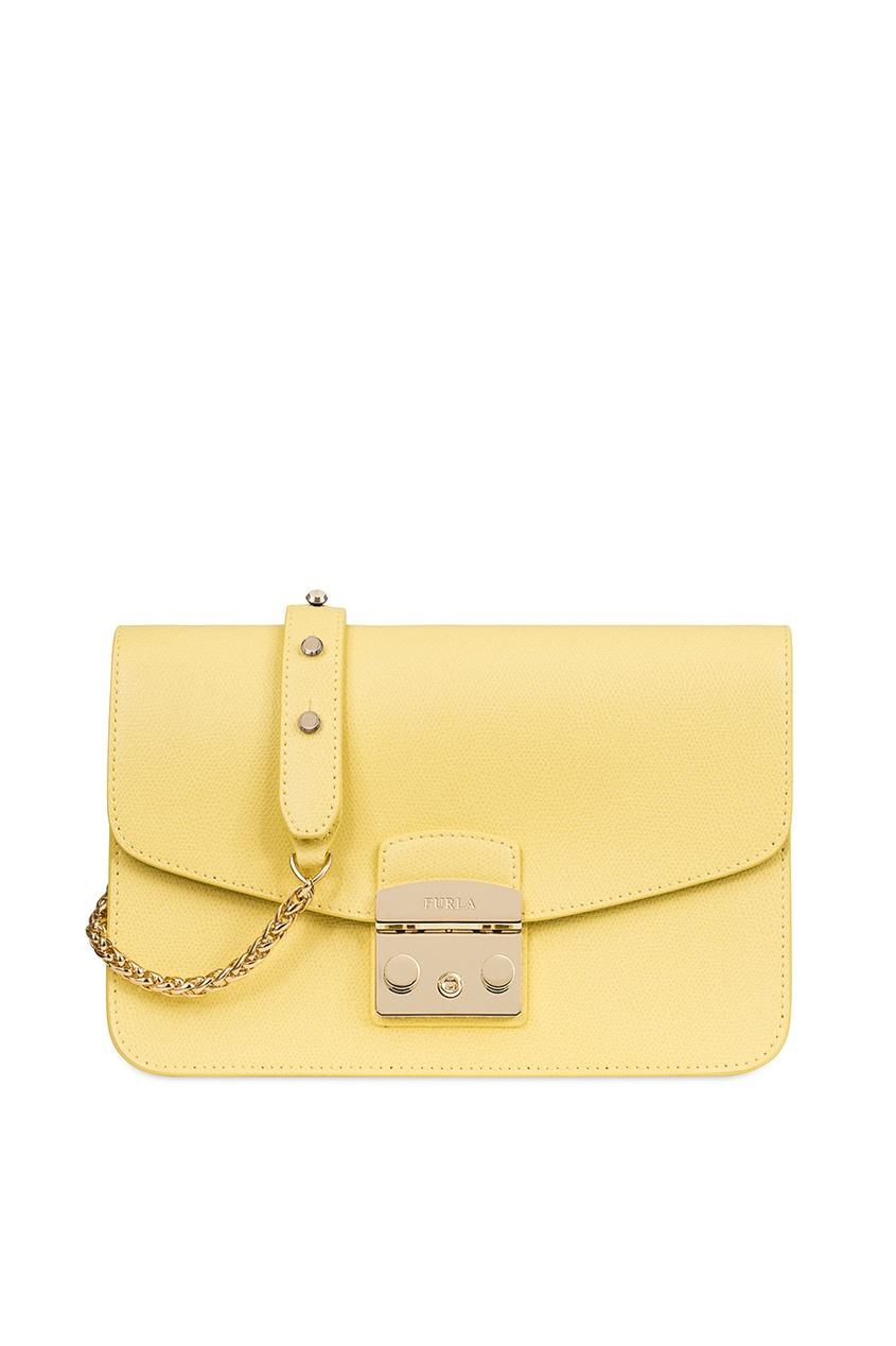 FURLA Желтая сумка Metropolis сумка furla furla fu003bwjkk37
