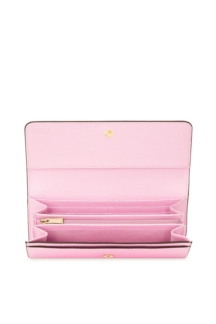 купить FURLA Розовый сафьяновый кошелек Babylon дешево