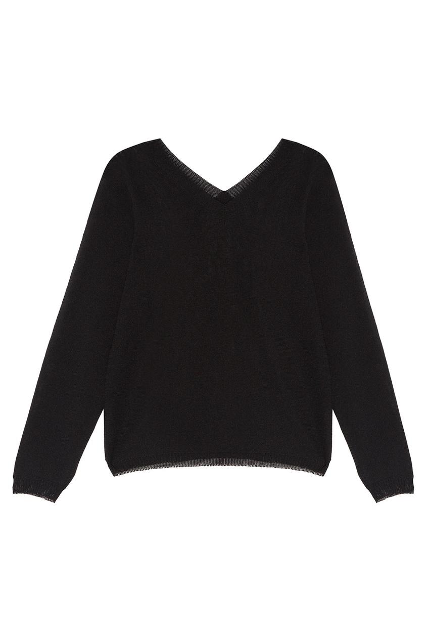 Tegin Черный пуловер из хлопка и льна tegin льняной топ
