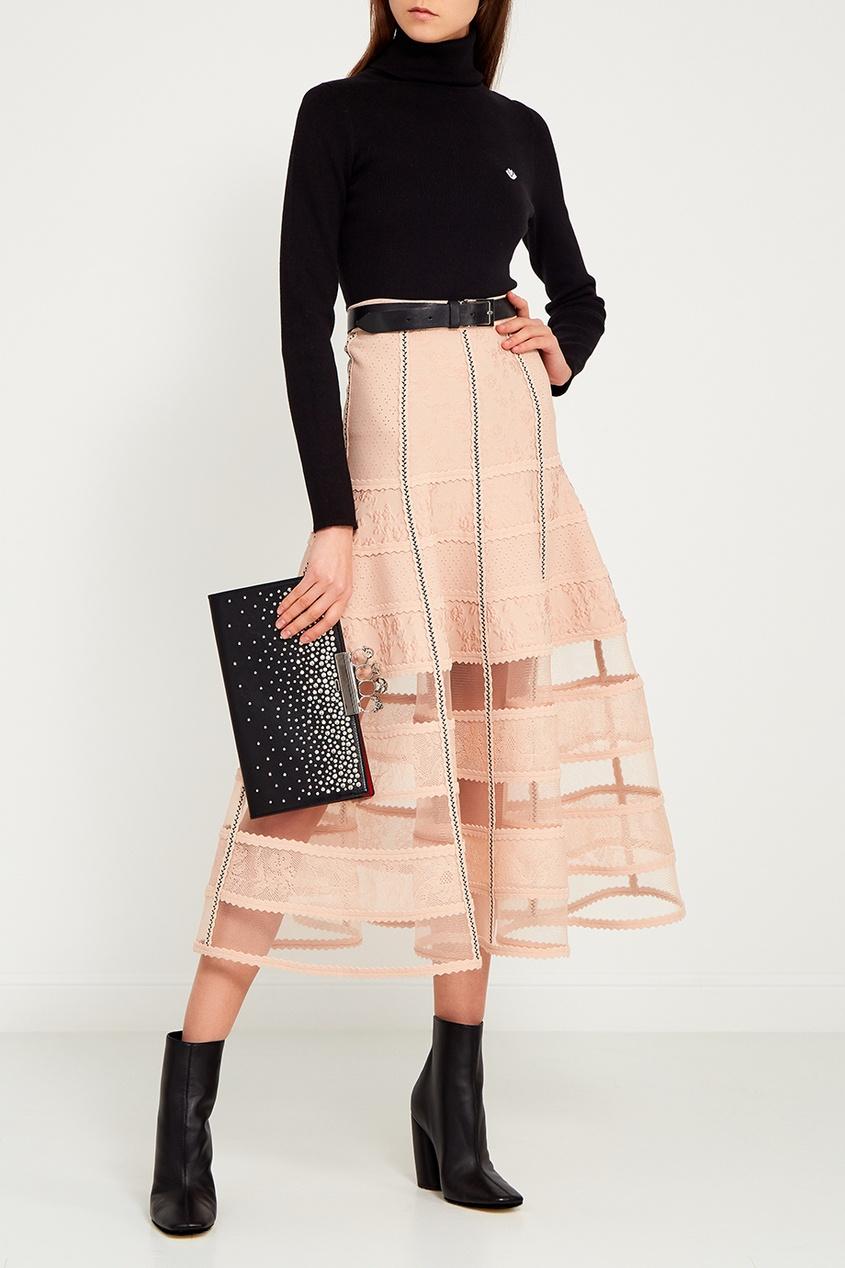 Alexander McQueen Расклешенная юбка-миди alexander mcqueen юбка из шелка с люрексом