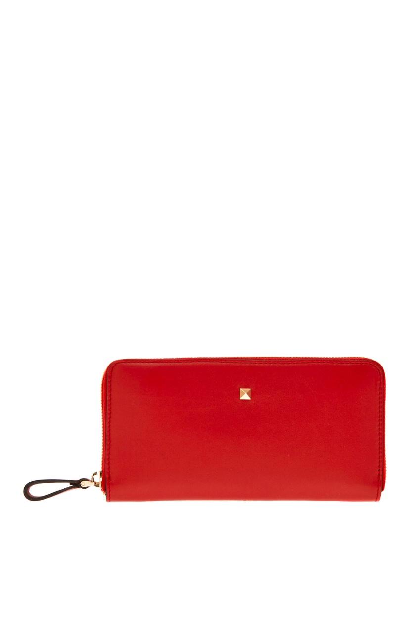 все цены на Valentino Красный кожаный кошелек онлайн