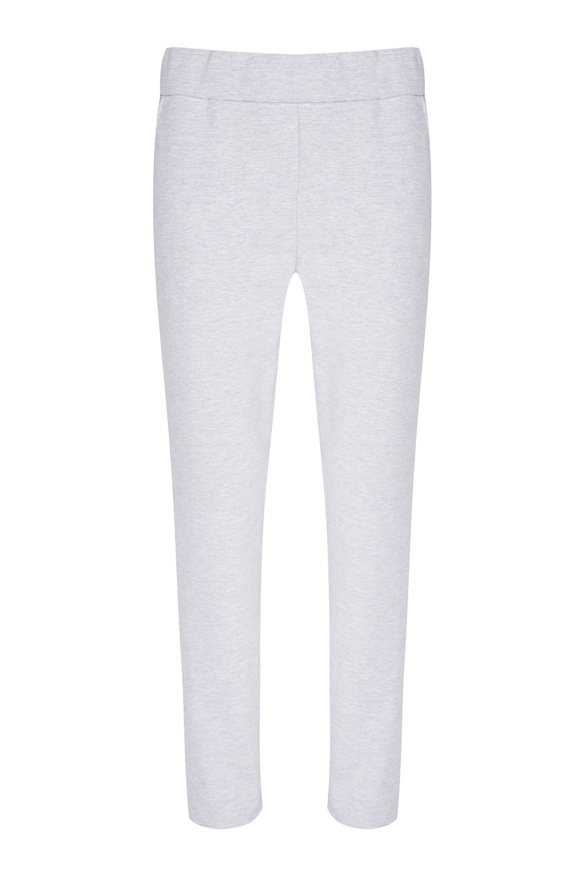 BLANK.MOSCOW Серые меланжевые брюки