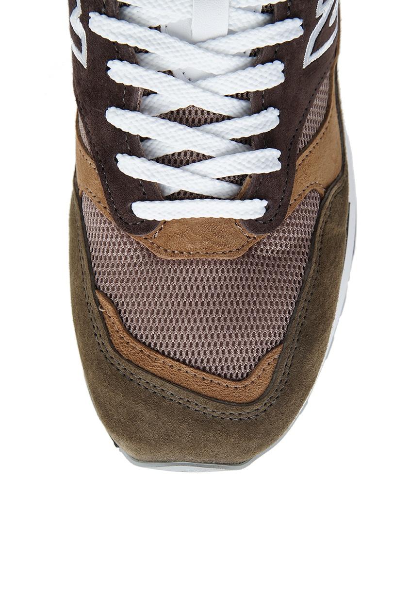 New Balance Замшевые кроссовки цвета хаки №1500 new balance голубые кроссовки из замши 997