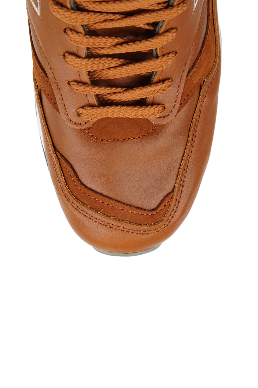 New Balance Коричневые кроссовки из кожи №1500 new balance футболка chiks