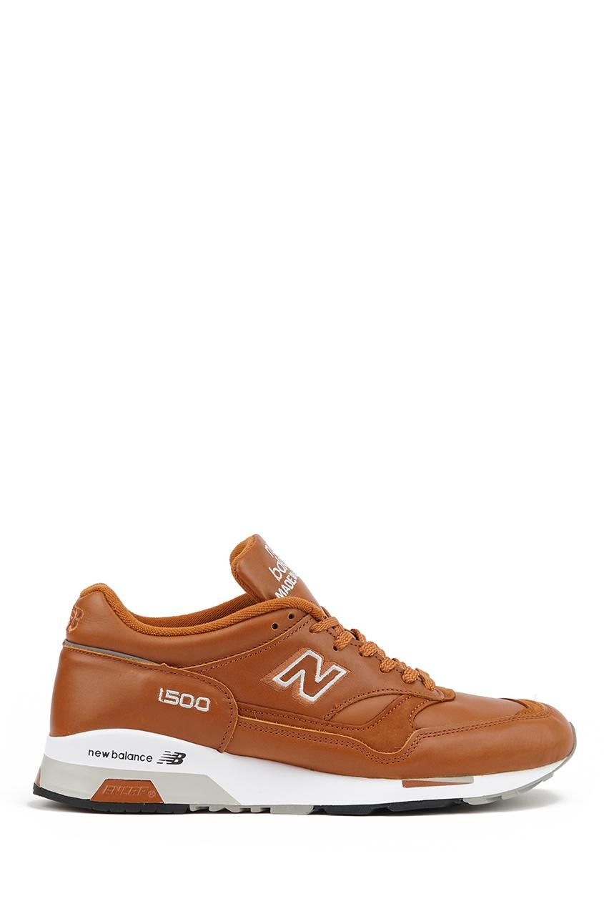 New Balance Коричневые кроссовки из кожи №1500 купить new balance u420ukg в сургуте