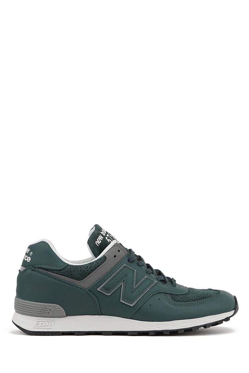 New Balance Зеленые кроссовки из кожи №576 купить new balance u420ukg в сургуте