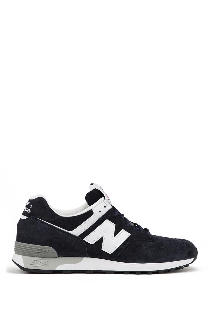 New Balance Синие замшевые кроссовки №576 купить new balance u420ukg в сургуте