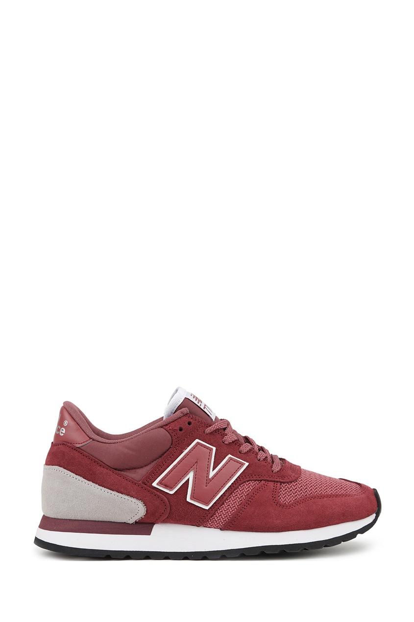 New Balance Бордовые комбинированные кроссовки №770 кроссовки new balance gw500lgt b