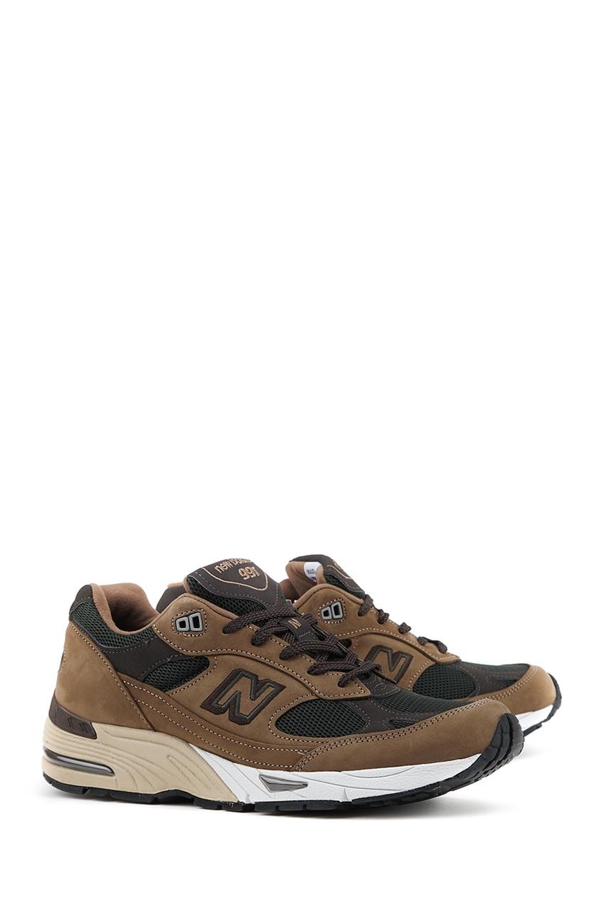 New Balance Коричневые кроссовки из замши и текстиля №991 new balance голубые кроссовки из замши 997