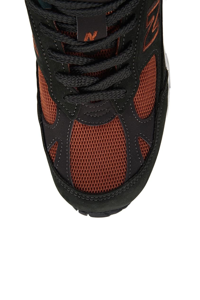 New Balance Темно-зеленые кроссовки из замши и текстиля №991 new balance голубые кроссовки из замши 997