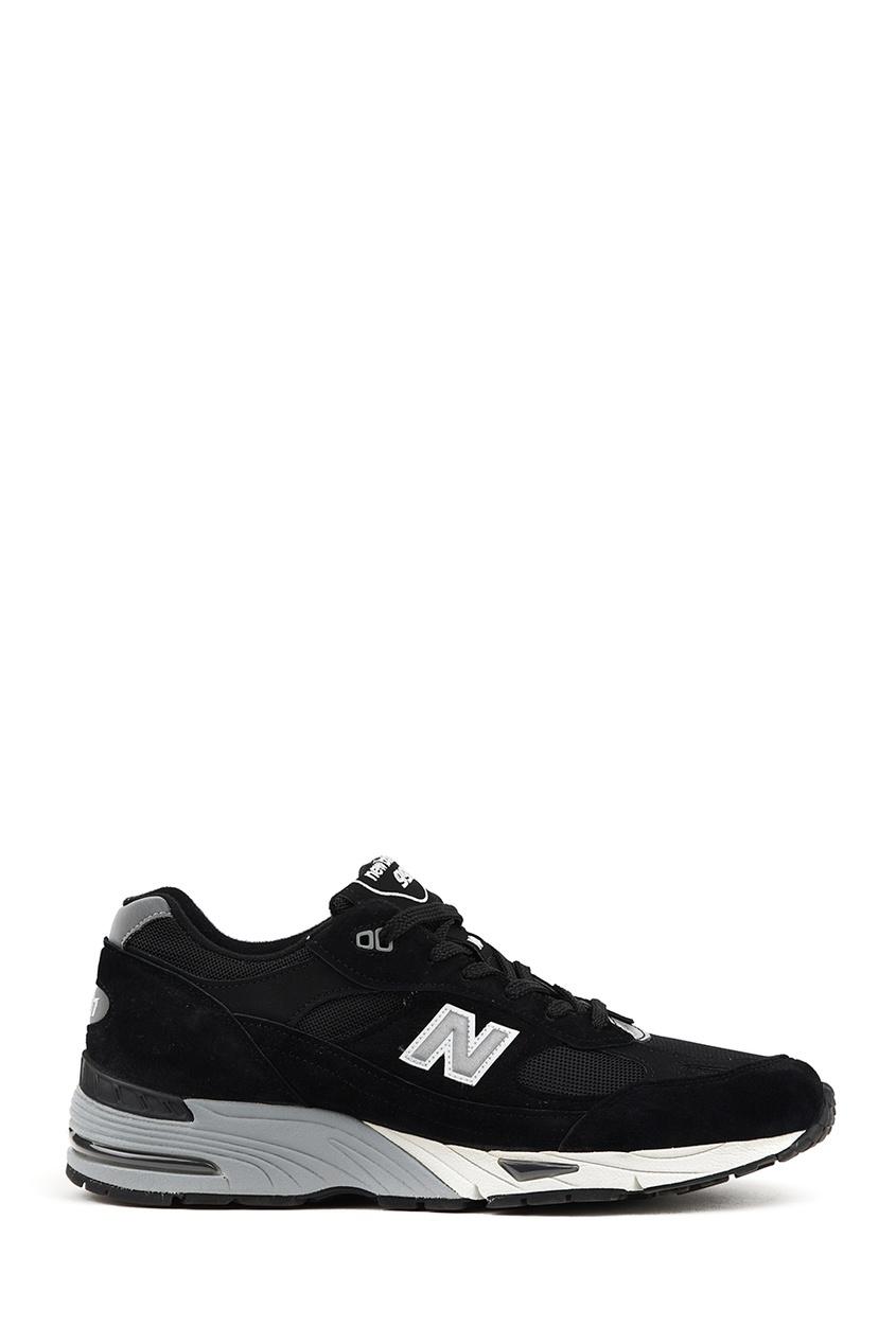 New Balance Черные кроссовки из замши и текстиля №991 new balance голубые кроссовки из замши 997