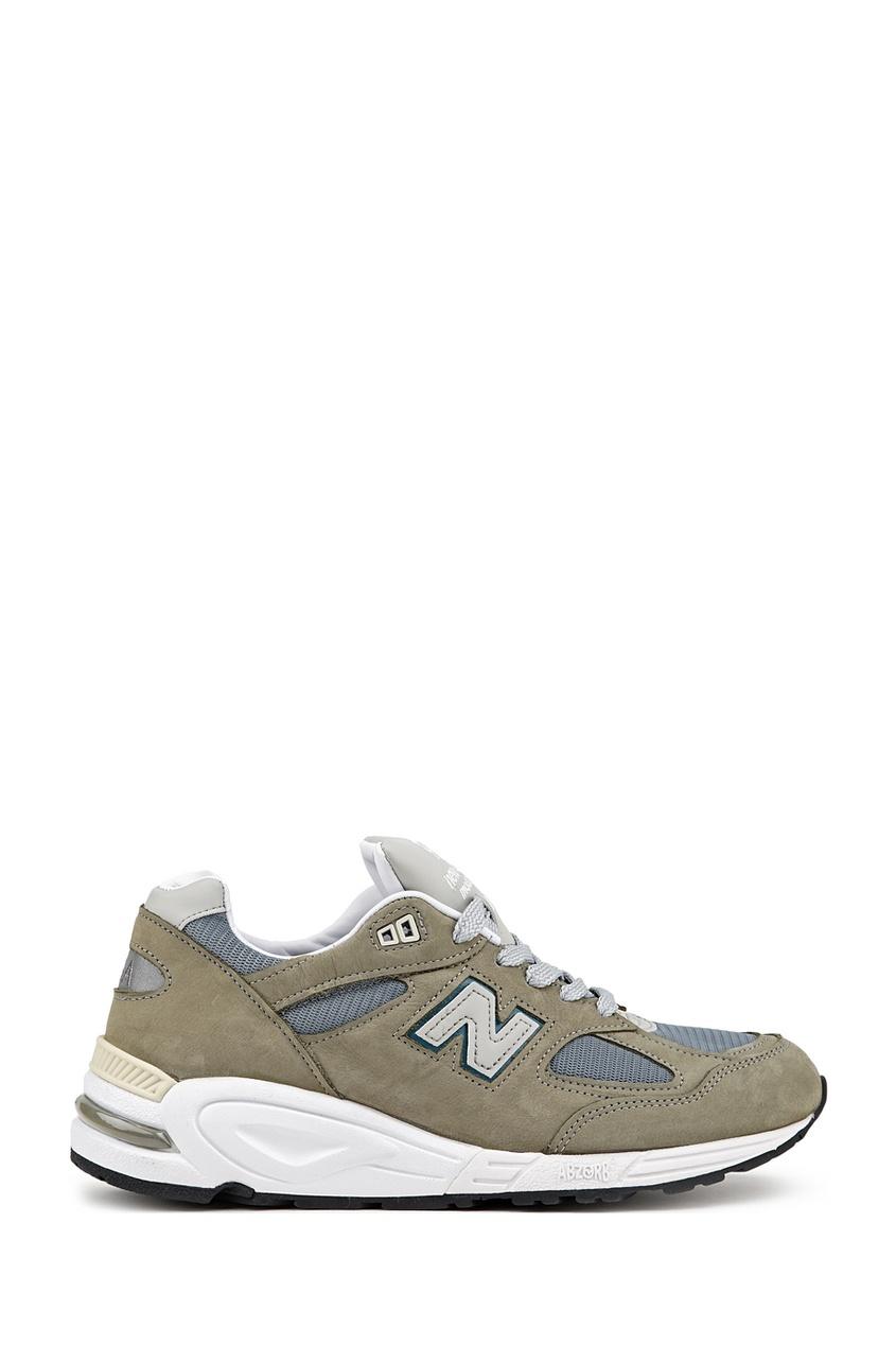 New Balance Зеленые замшевые кроссовки №990v2 купить new balance u420ukg в сургуте