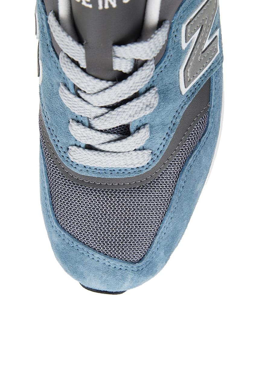 New Balance Голубые кроссовки из замши №997 new balance футболка chiks