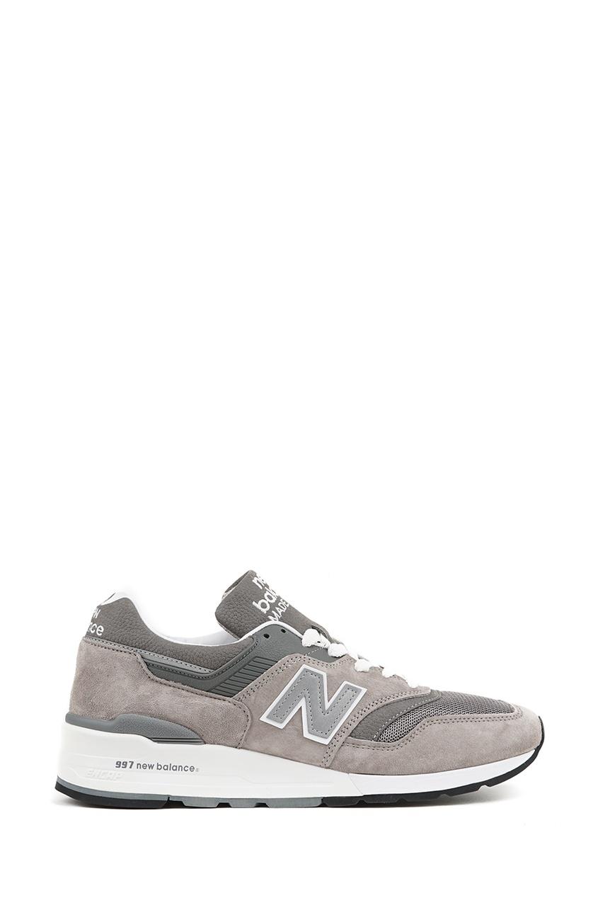 New Balance Серые кроссовки из замши №997 купить new balance u420ukg в сургуте