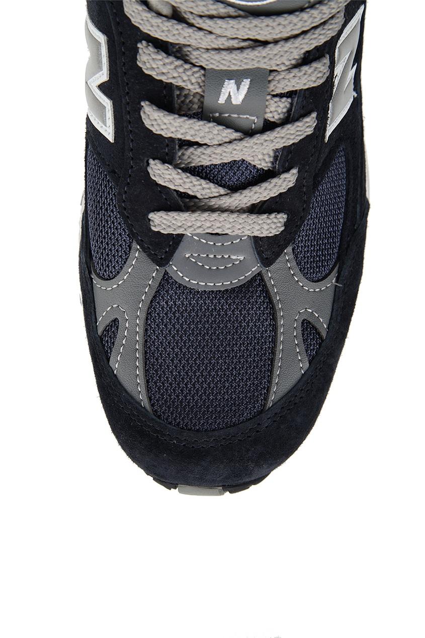 New Balance Синие кроссовки из замши и текстиля №991 new balance голубые кроссовки из замши 997