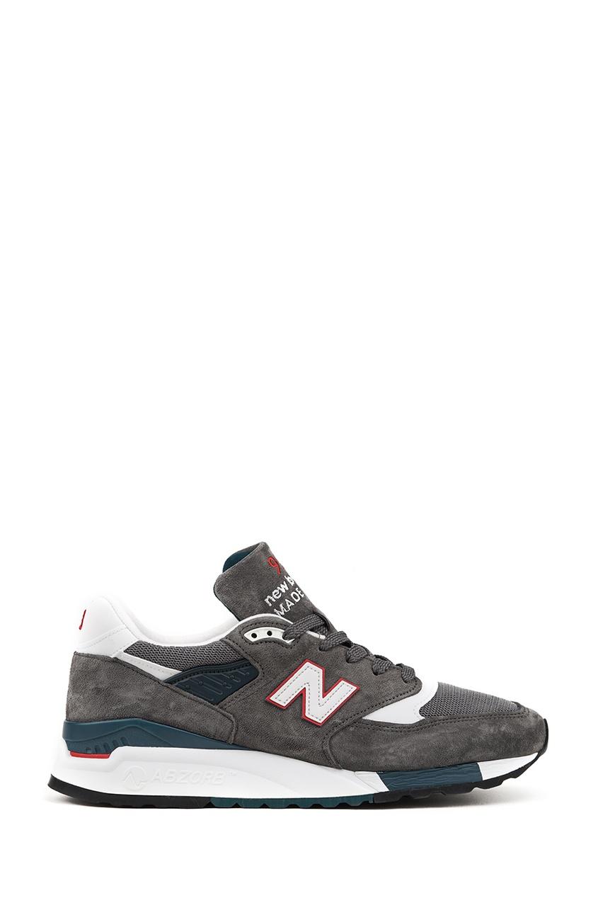 New Balance Серые замшевые кроссовки №998 billionaire серые кроссовки с бархатными вставками