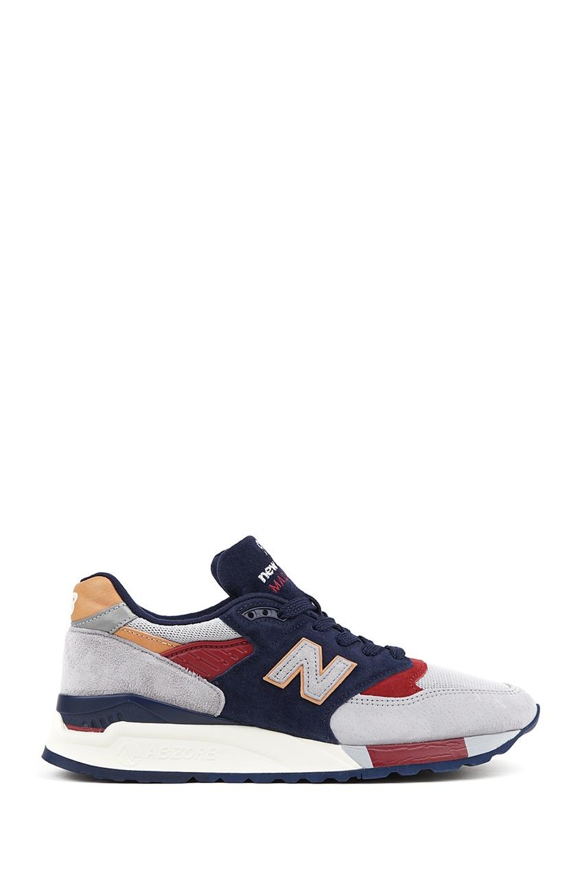 New Balance Комбинированные кроссовки из замши №998 купить new balance u420ukg в сургуте