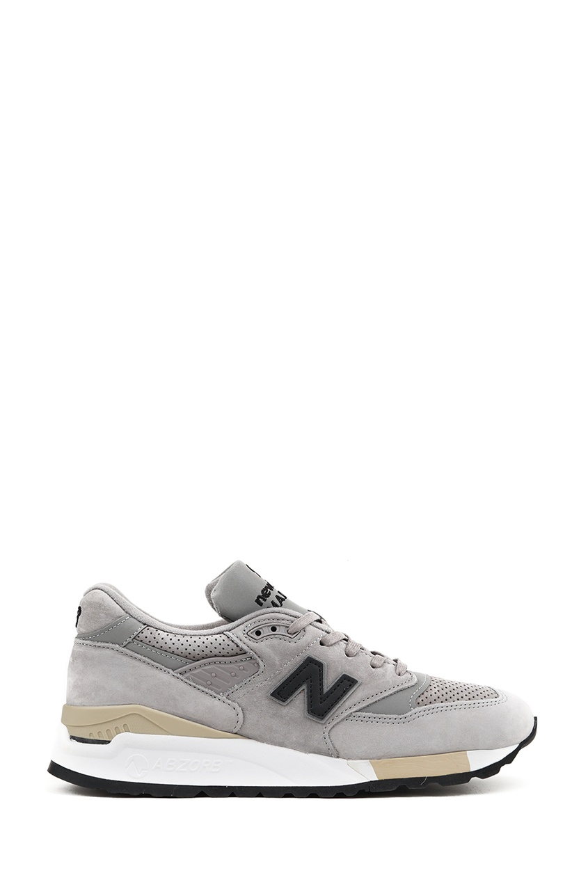 New Balance Серые замшевые кроссовки №998 купить new balance u420ukg в сургуте