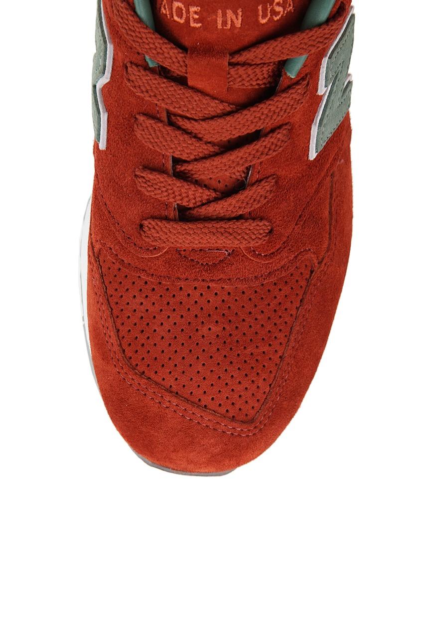 New Balance Красные кроссовки из замши №998 new balance футболка chiks