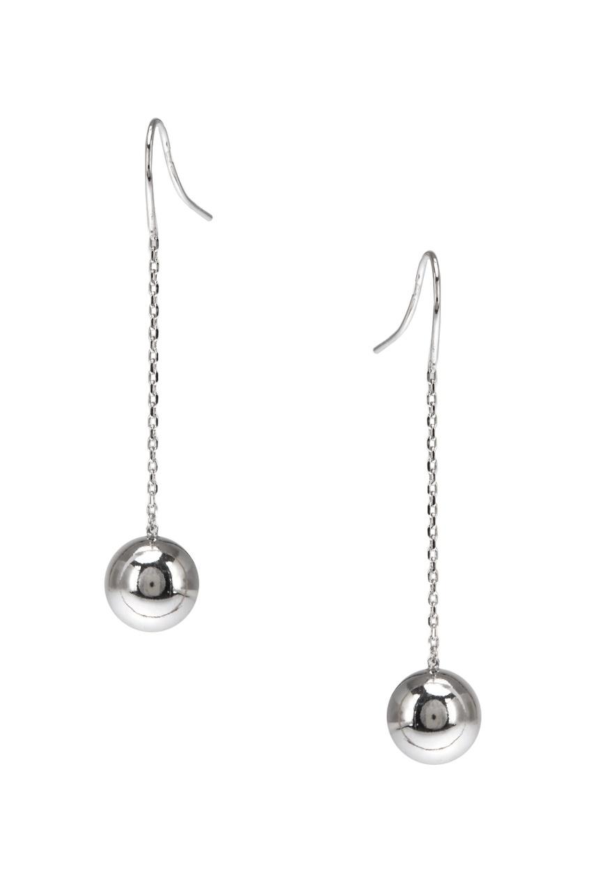 Серебряные серьги с шариками