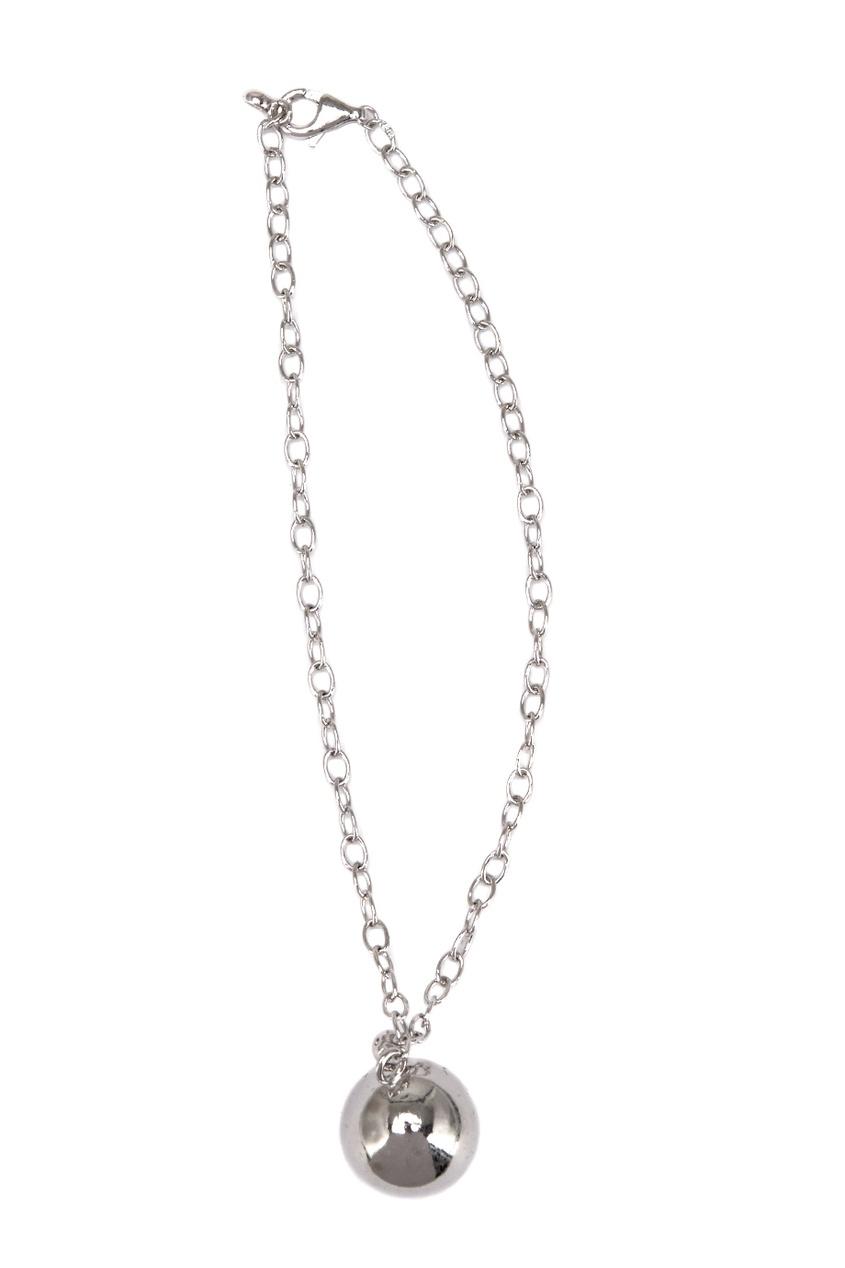 Exclaim Серебряный браслет с шариком exclaim подвеска pearls посеребрение