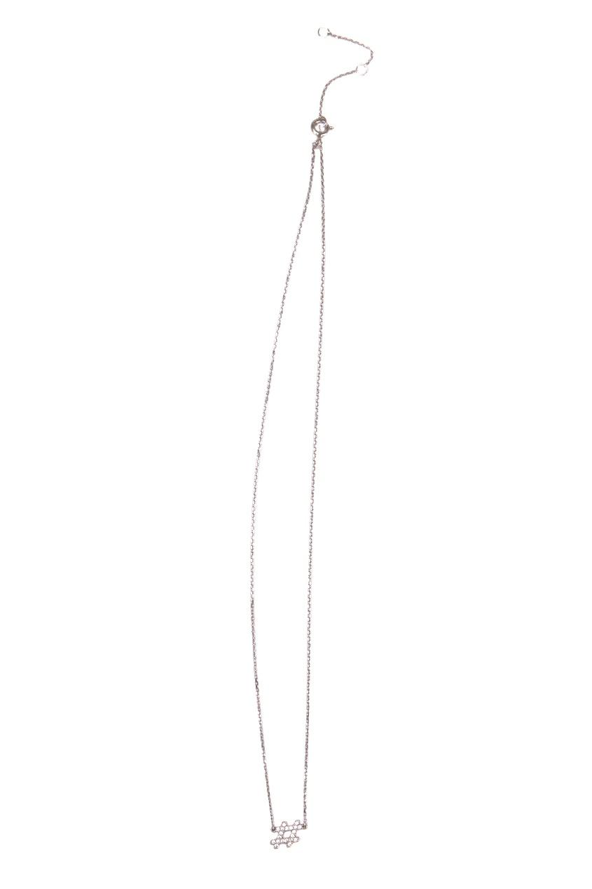 Exclaim Серебряное колье-цепочка с хэштегом exclaim подвеска pearls посеребрение