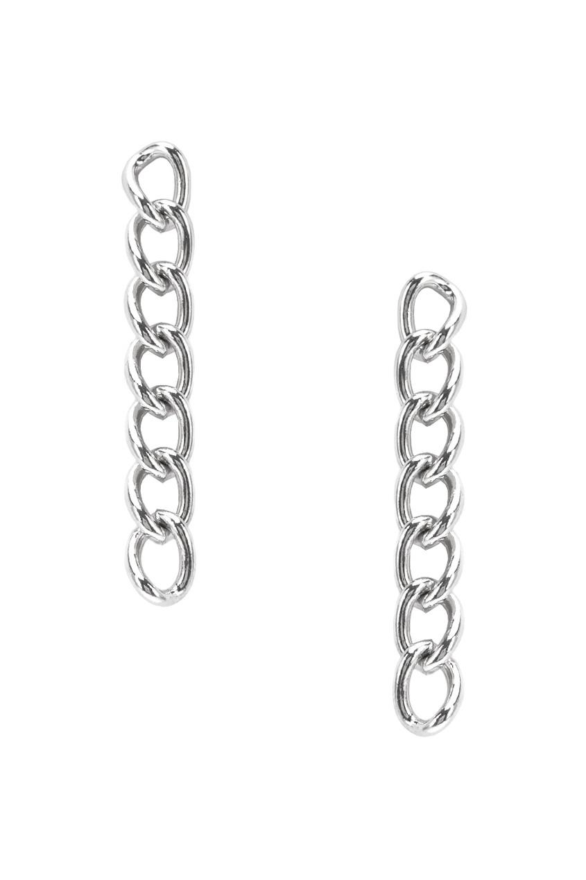 Exclaim Серебряные серьги-цепи