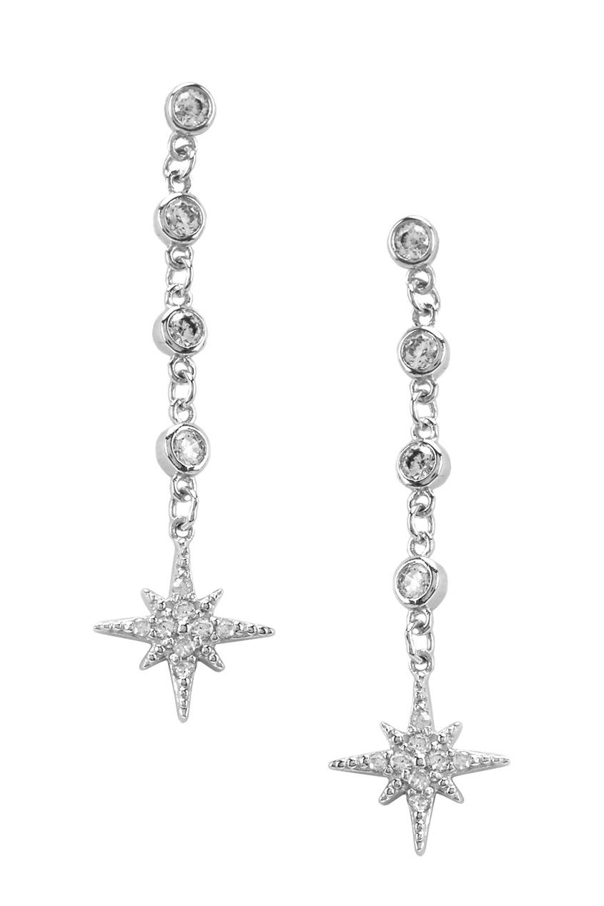Exclaim Серебряные серьги со звездами exclaim серьги гвоздики серебряные со светлыми камнями