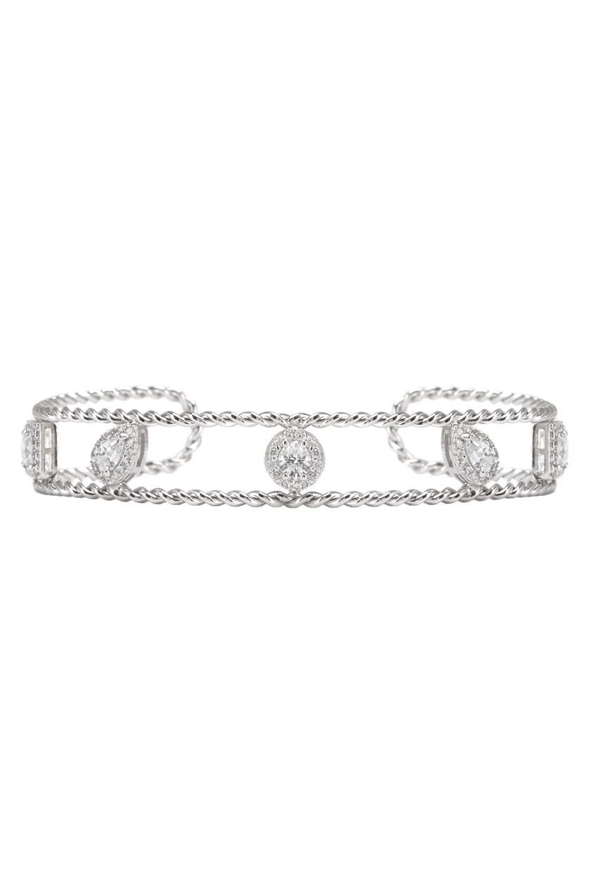 Exclaim Серебряный браслет с кристаллами exclaim тонкий браслет с кристаллами