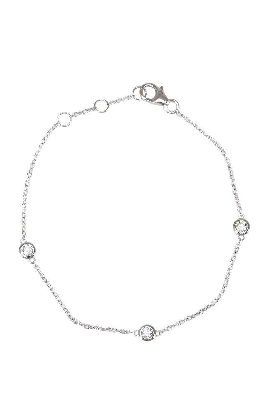 Exclaim Тонкий браслет с кристаллами браслеты exclaim легкий браслет цепочка с миниатюрными цирконами