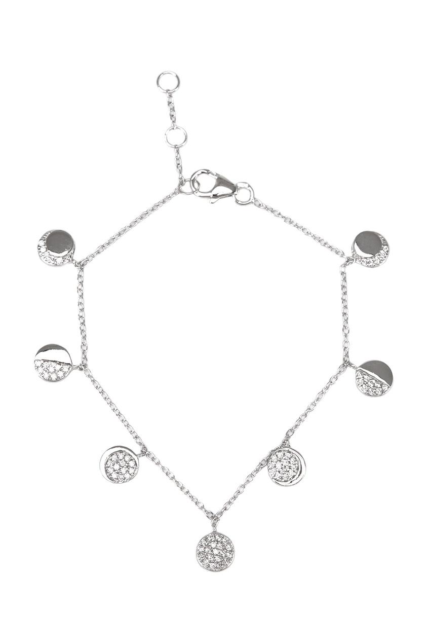 Exclaim Браслет-цепочка серебряный с подвесками exclaim двойное колье цепочка с подвесками