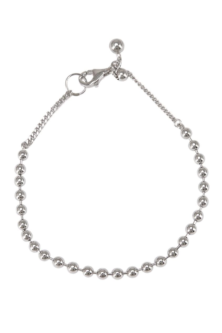 Браслет серебряный из мелких шариков