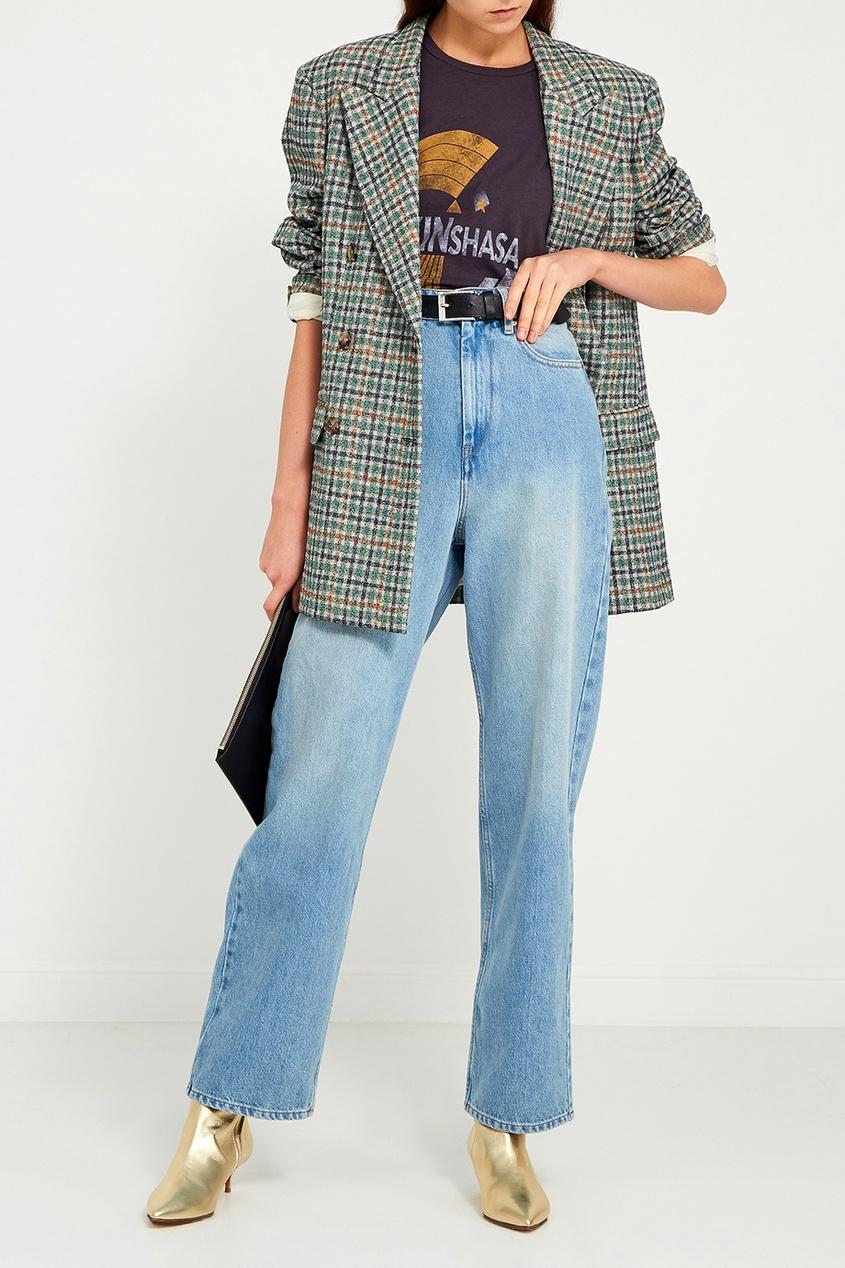 купить Isabel Marant Etoile Голубые потертые джинсы по цене 16200 рублей