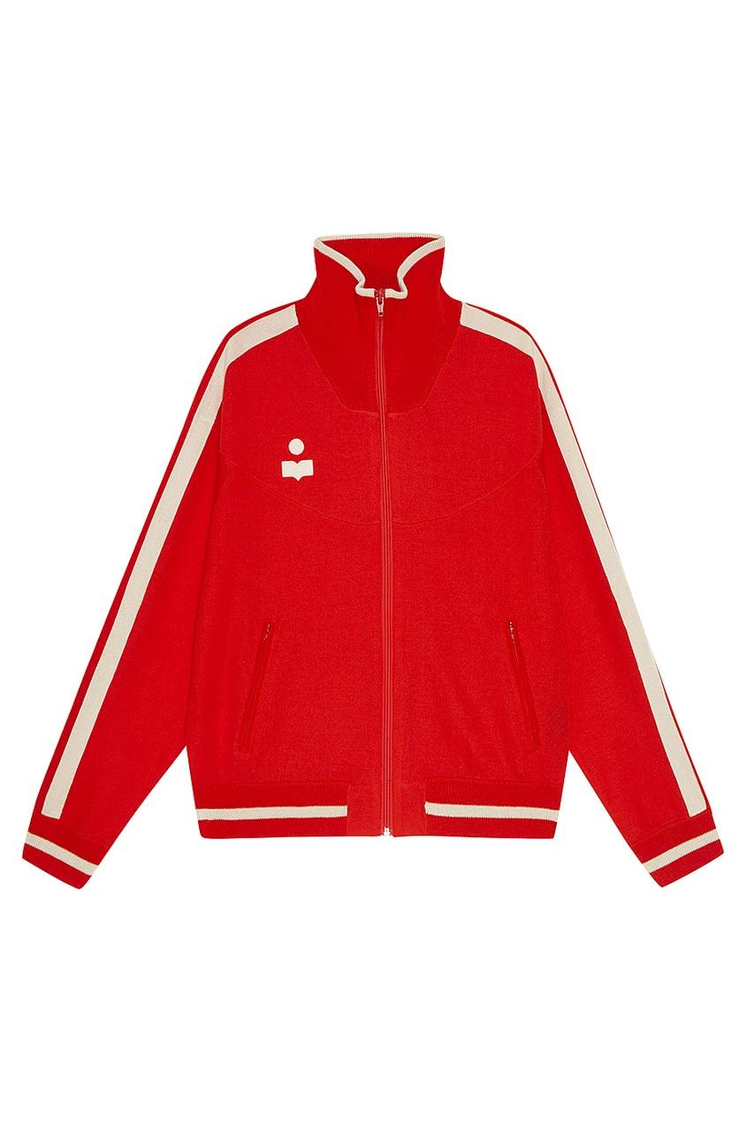 Красная олимпийка с полосками