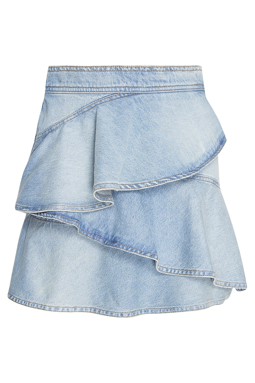 Isabel Marant Etoile Джинсовая юбка с воланами isabel rossi серьги isabel rossi ir188 мульти