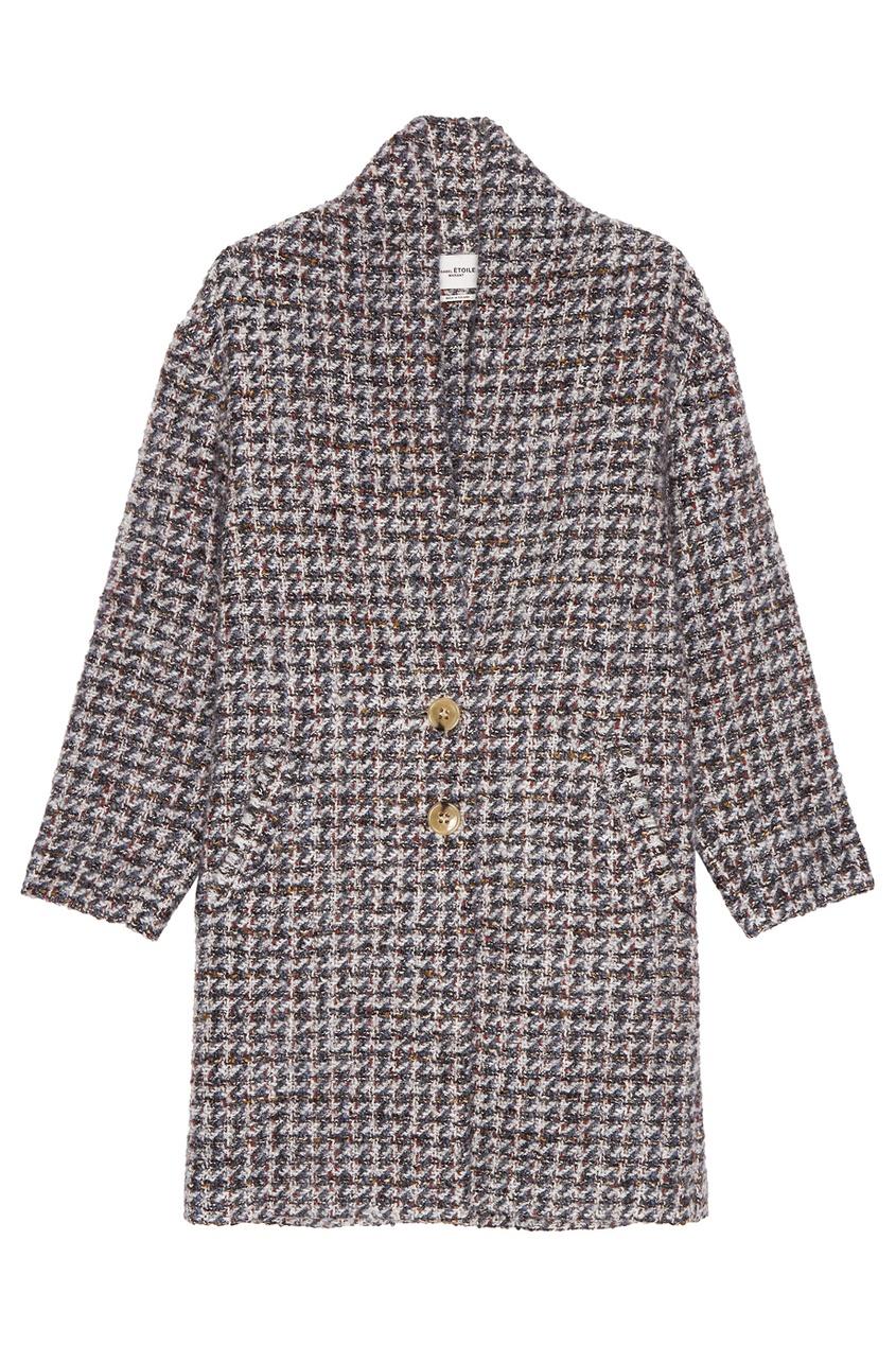 Isabel Marant Etoile Твидовое пальто oversize твидовое пальто без воротника