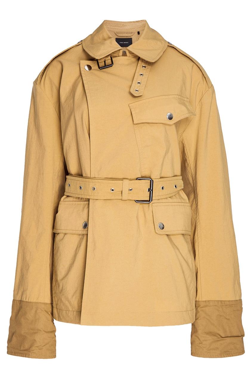 Isabel Marant Куртка песочного цвета куртка голубого цвета brums ут 00008775