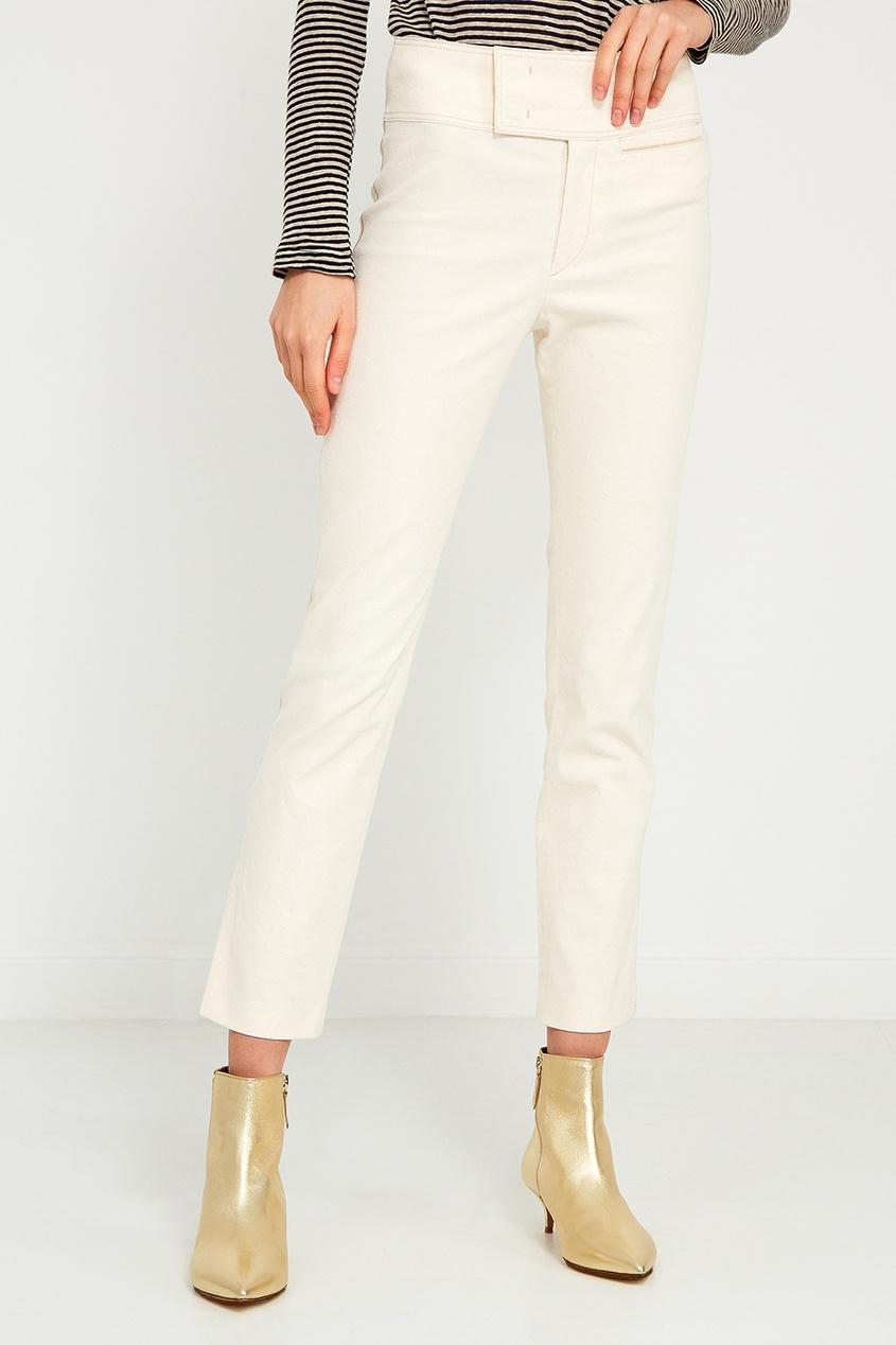Хлопковые брюки с широким поясом