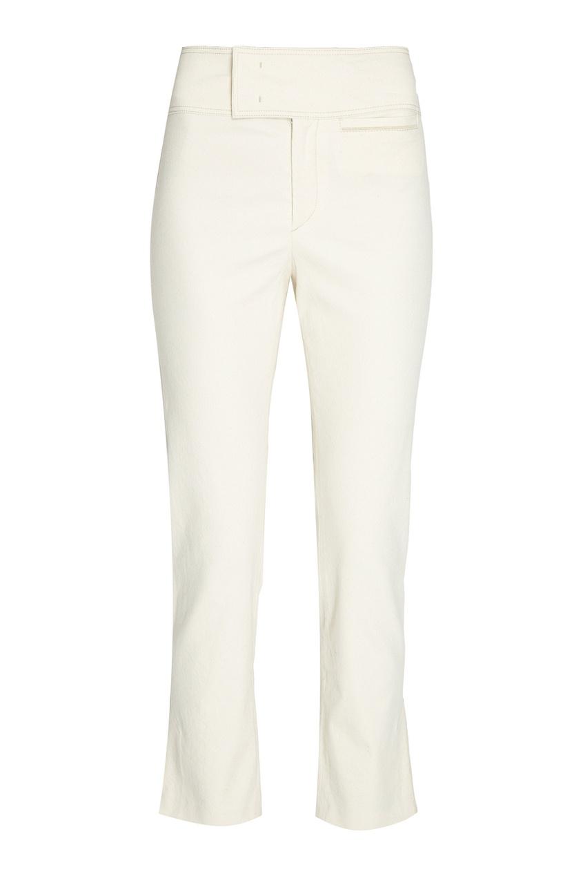 Isabel Marant Хлопковые брюки с широким поясом