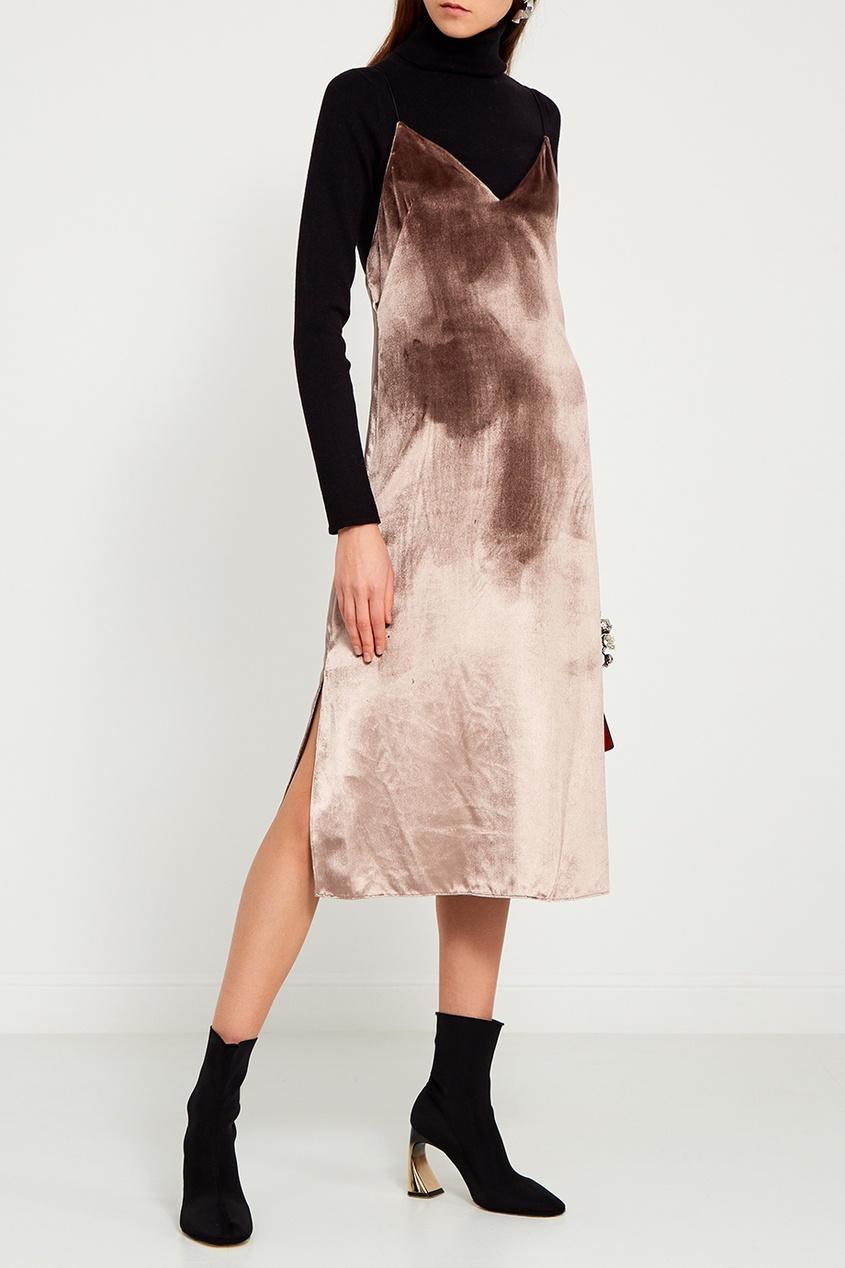 Rag&Bone Бархатное платье-комбинация