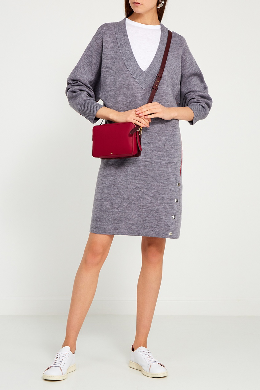 Трикотажное платье из шерсти и хлопка