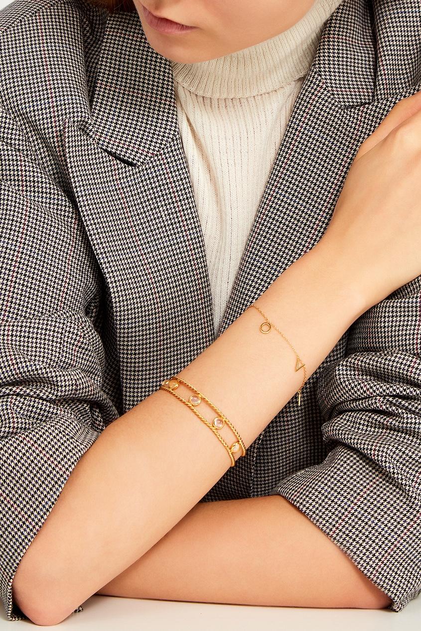 Exclaim Золотистый браслет с кристаллами delphi брускетта из печеного перца 230 г