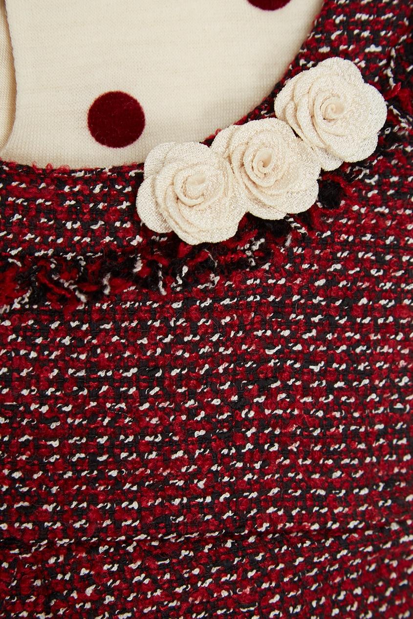 Комплект из твидового сарафана и блузки