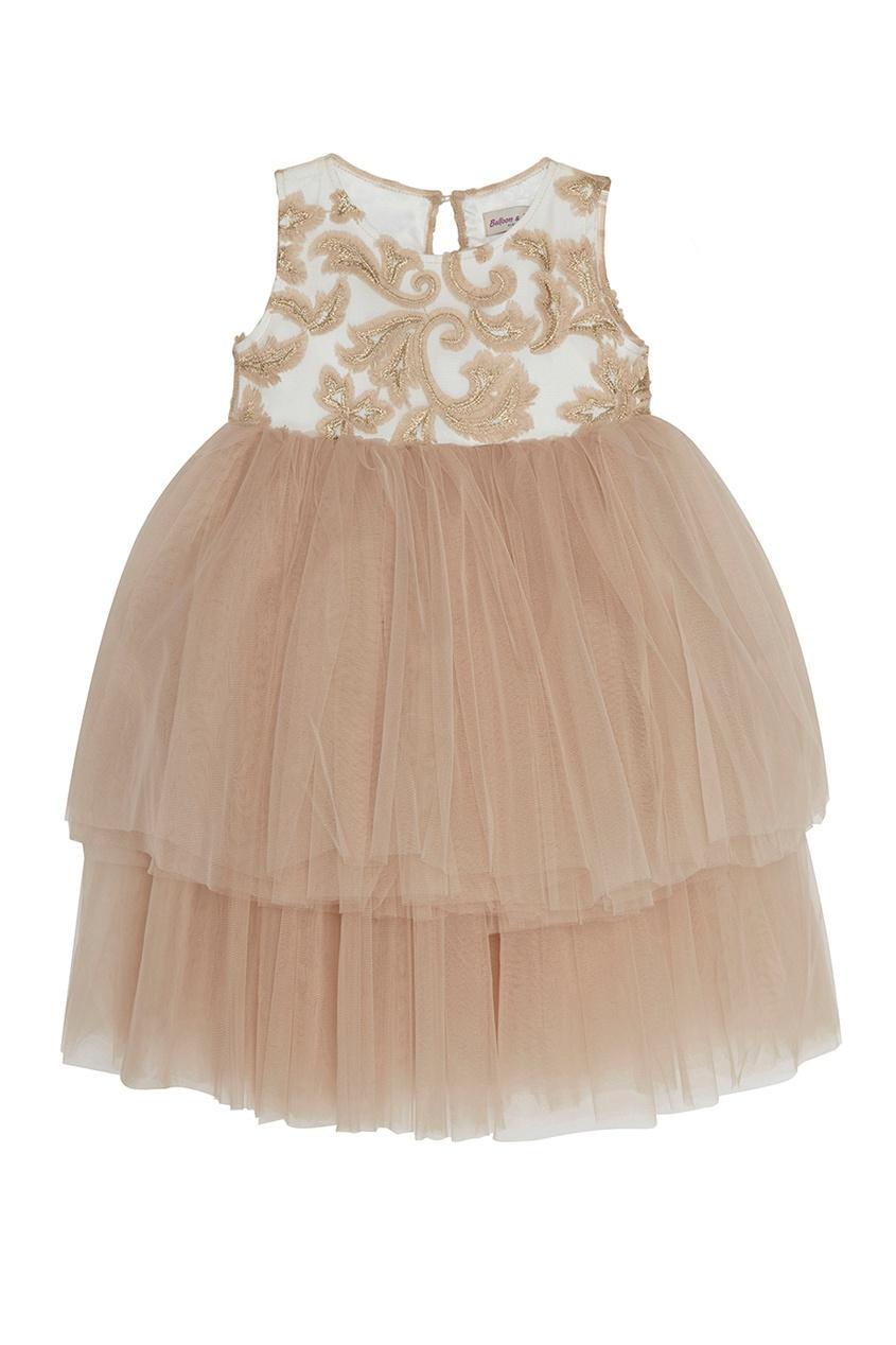 Платье с драпированным подолом