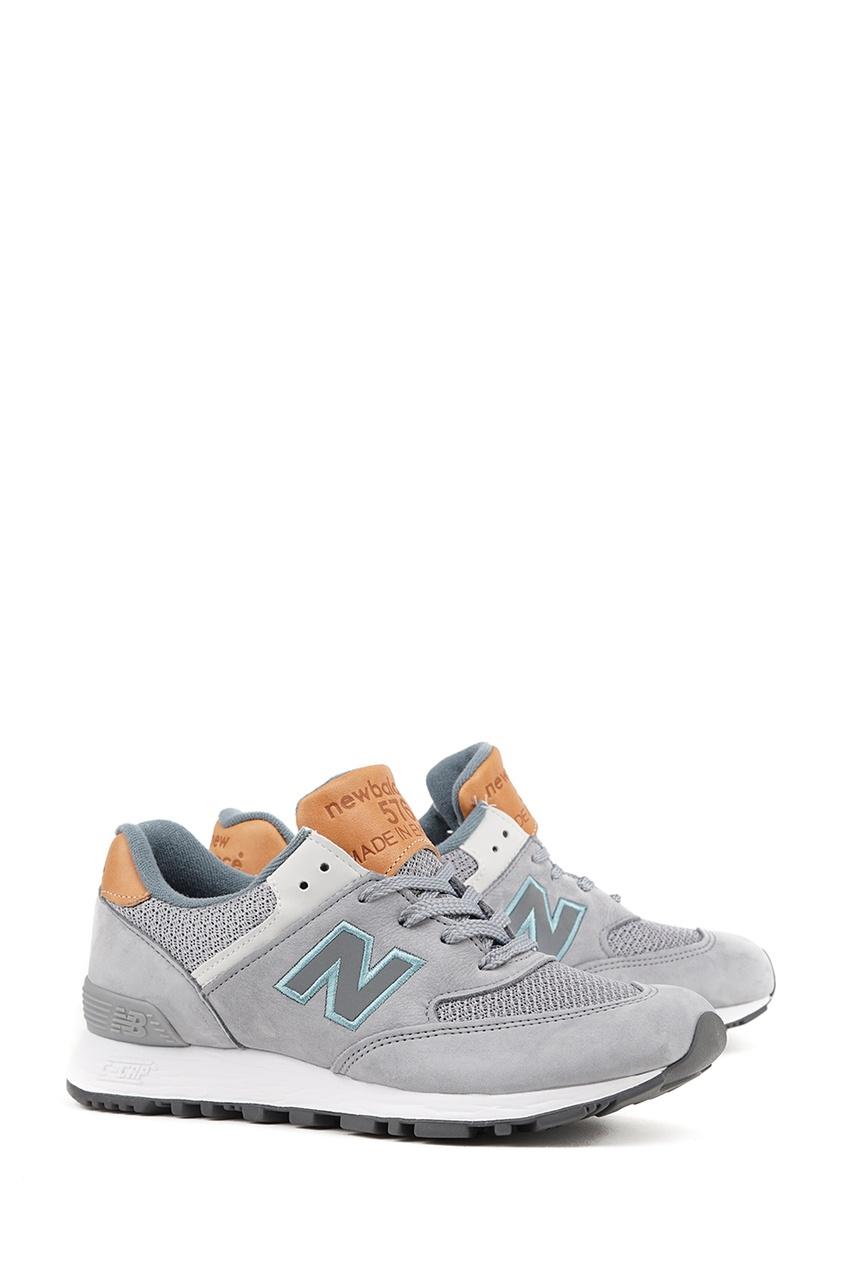 New Balance Серые кроссовки из нубука №576 new balance футболка chiks