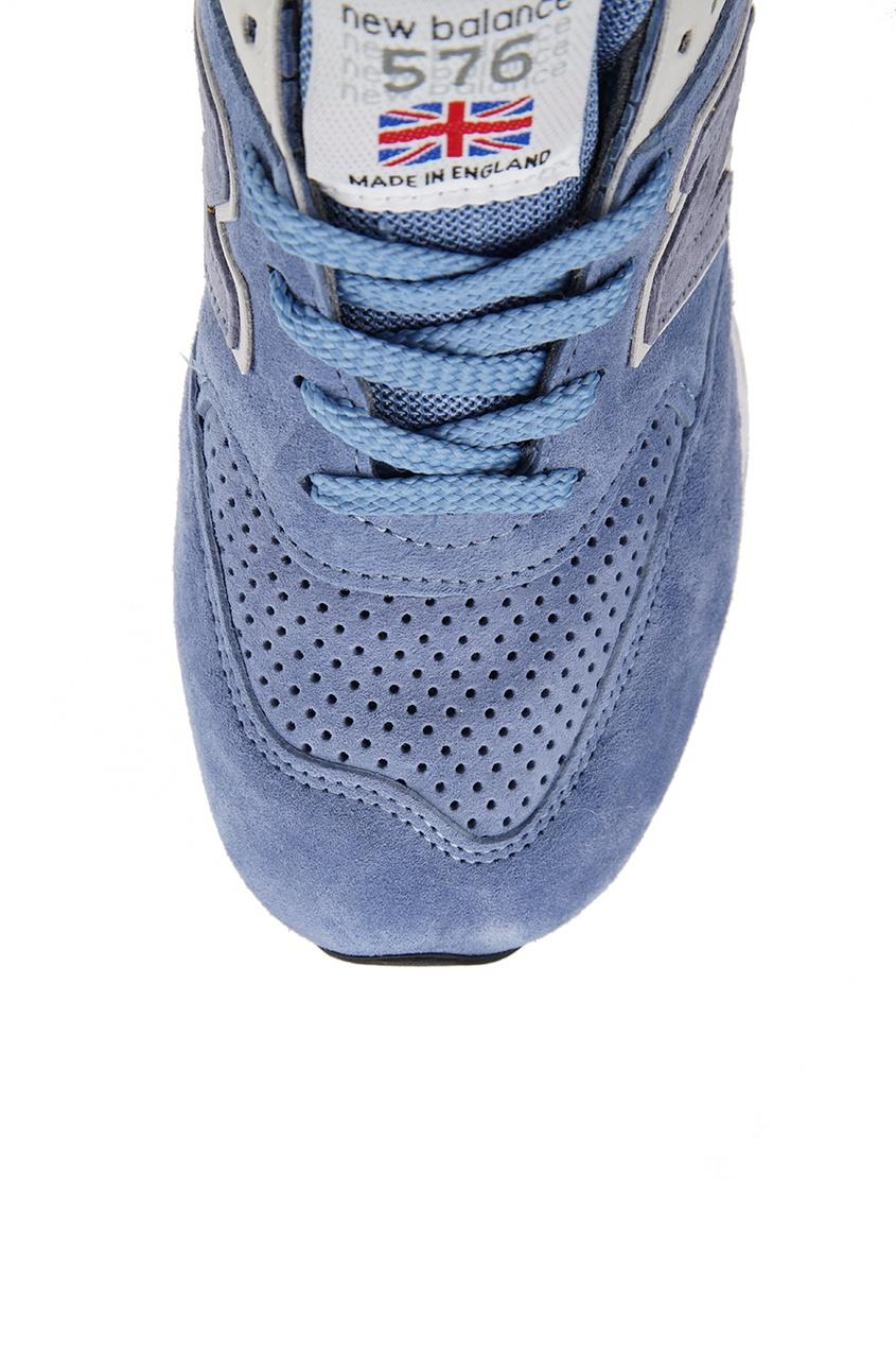 New Balance Голубые кроссовки из замши и текстиля №576 new balance голубые кроссовки из замши 997