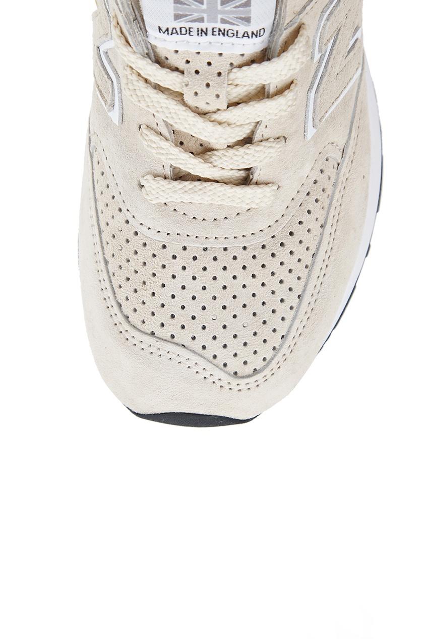 New Balance Бежевые кроссовки из замши №576 кроссовки new balance gw500lgt b